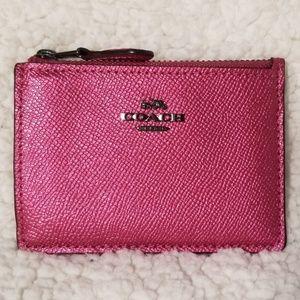Coach pink skinny mini NWT